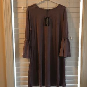 NEW Simply Southern purple suede dress